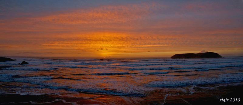 Meyers Creek Beach Sunset Panorama