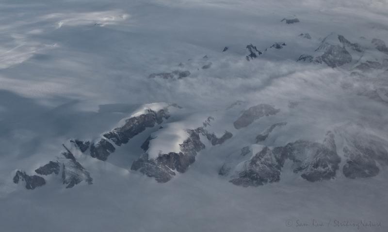 Greenland from 33,000 feet