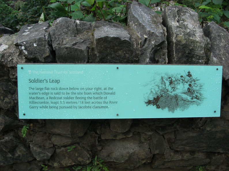 Sign for the Soldier's Leap