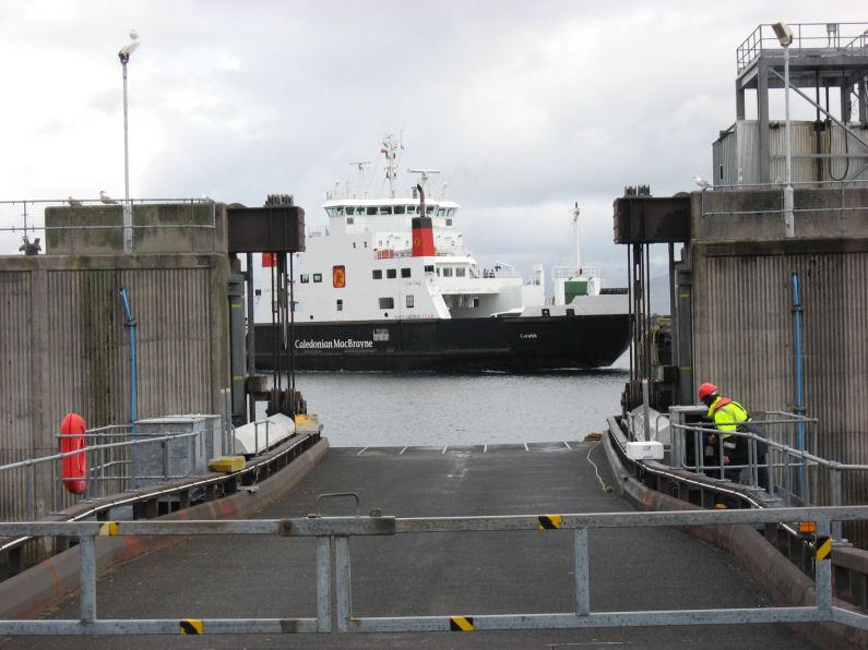 Turning around to dock