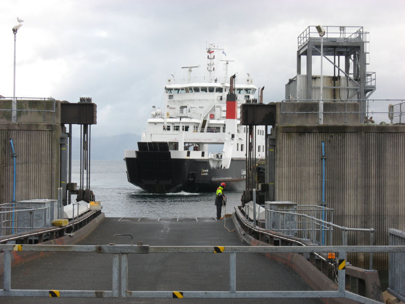Backing up to dock