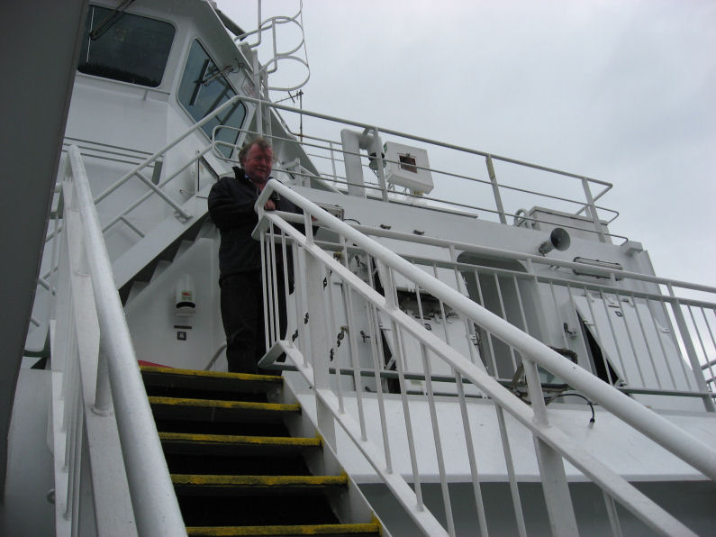 Lord Ailsa on the ferry