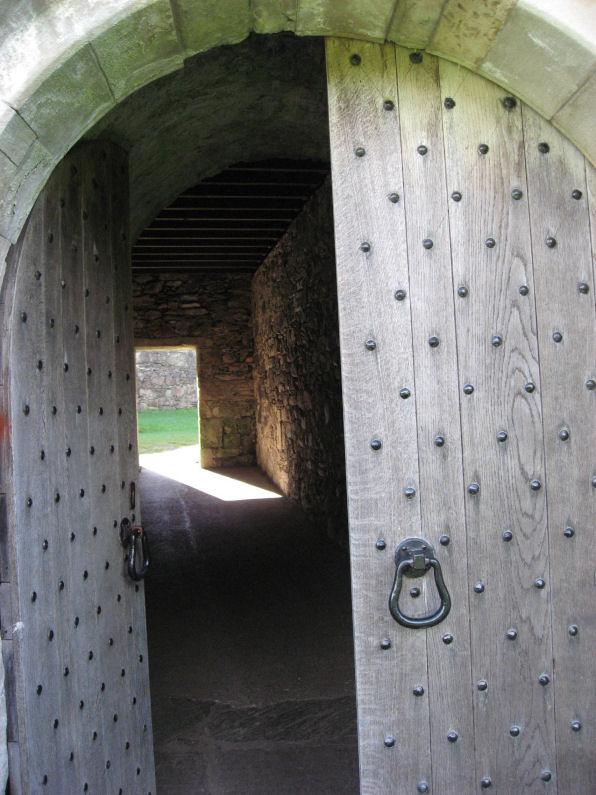 Dunstaffnage Castle entrance passage