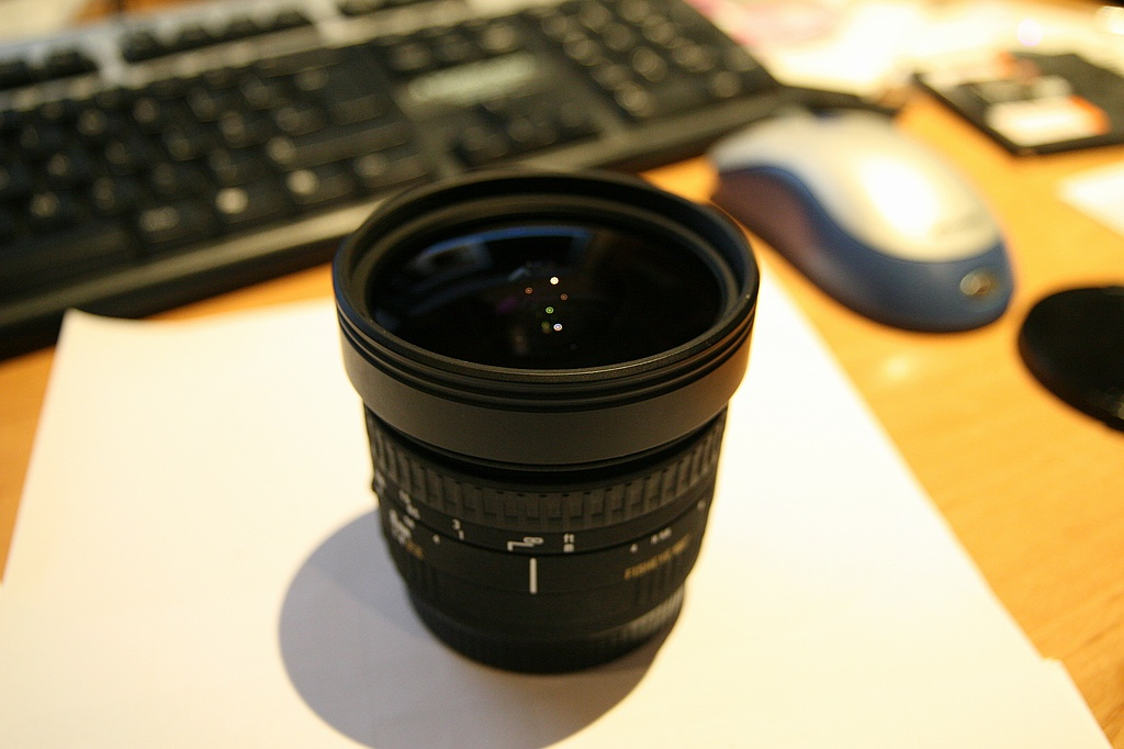 Sigma 8mm in its normal state