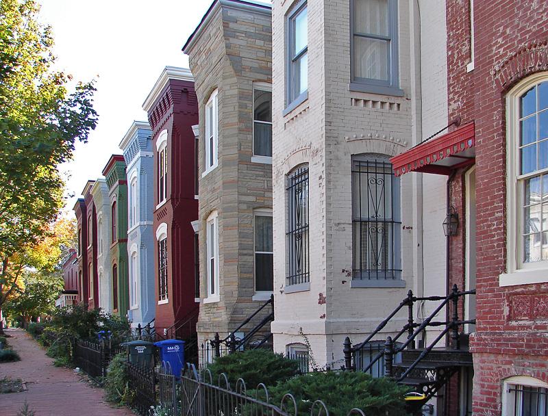 Row houses in a row