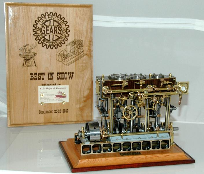 (6)   A more professional shot of the BEST of SHOW engine