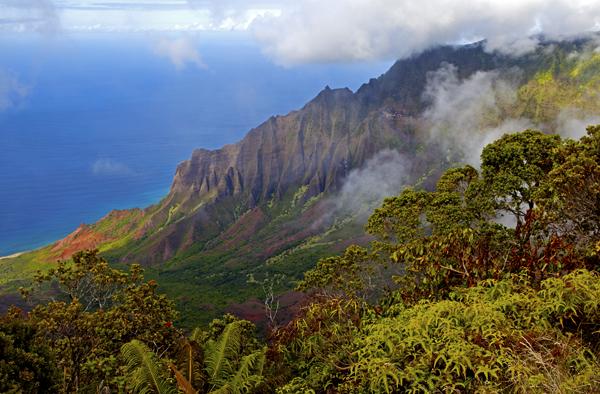 Kalalau Valley, Kokee State Park, Kauai, HI
