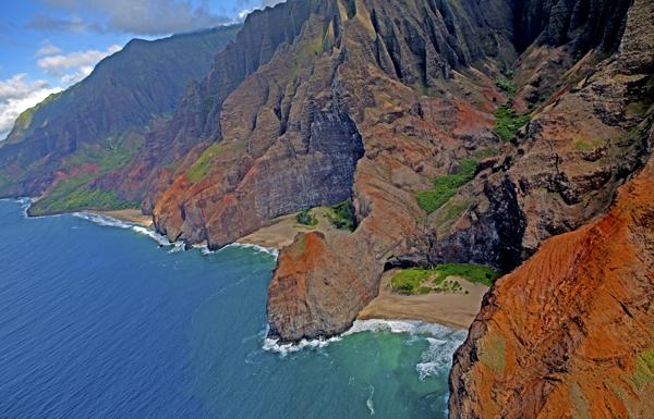 Honopu Arch, Na Pali Coast, Kauai , HI