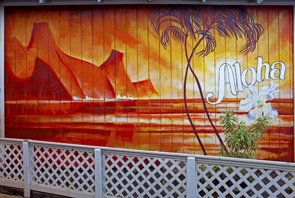 Aloha mural, Kapaa, Kauai, HI