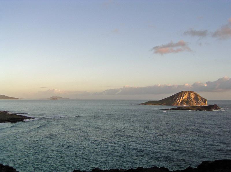 Xmas 2003 sunrise Rabbit Island