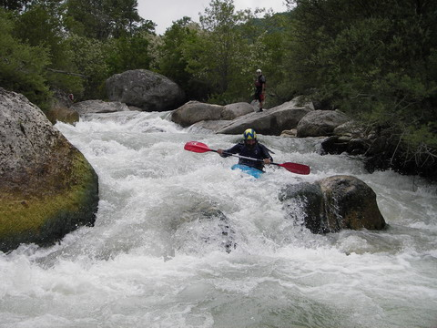 super kayaker in action