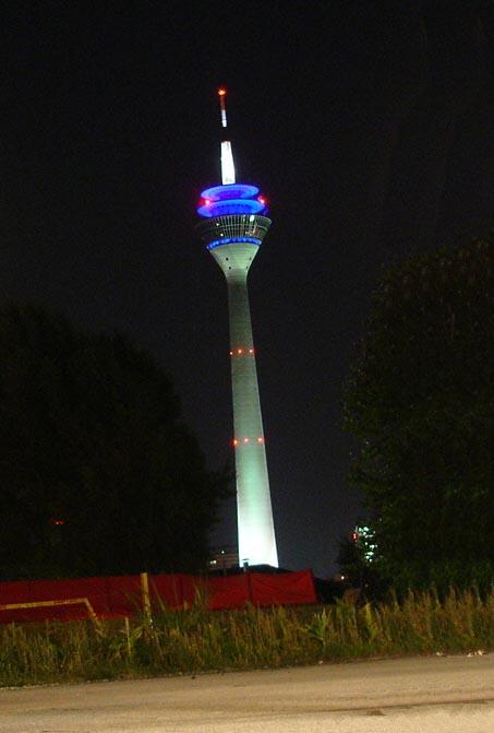 The Rheinturn at night
