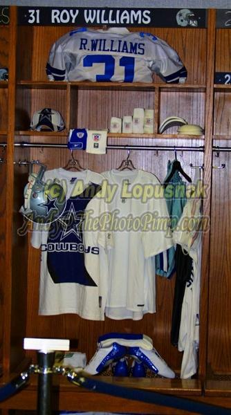 Dallas Cowboys CB Roy Williams locker at Texas Stadium