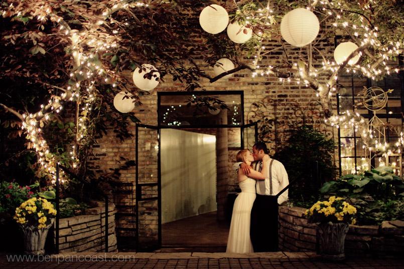 A New Leaf Wedding Ceremony Portrait Chicago Il