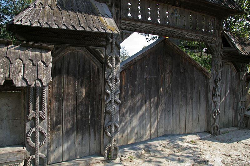 hand-carved doors in Maramures