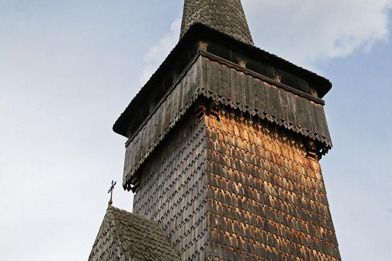 wooden church tower