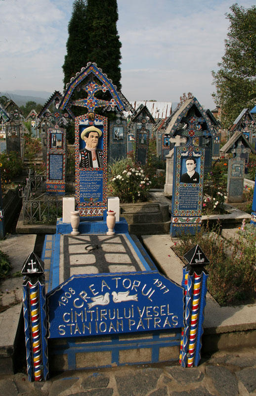 Grave of the creator of the merry cemetery
