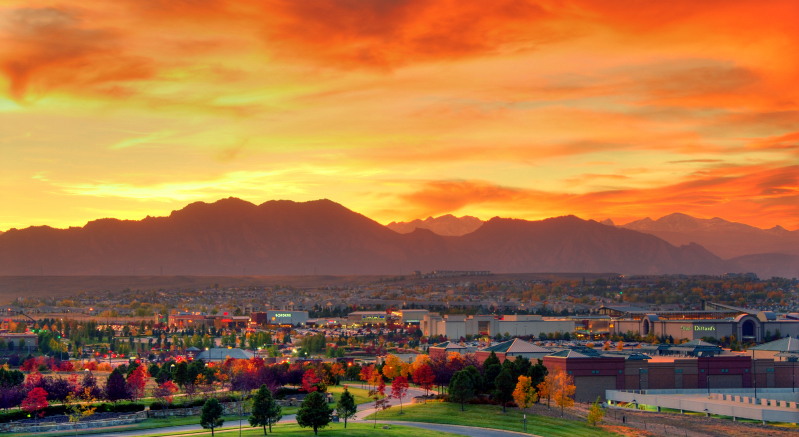 Rocky Mountains at Sunset