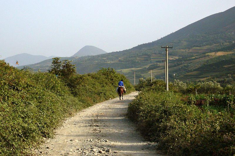 Country road near Berati
