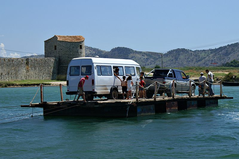 Butrint - rope ferry