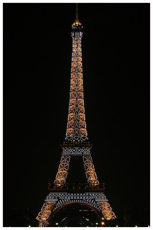 Eiffel Tower with Flashing Lights