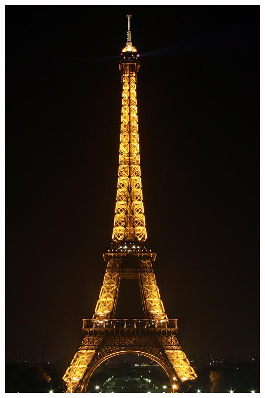 Eiffel Tower Night View