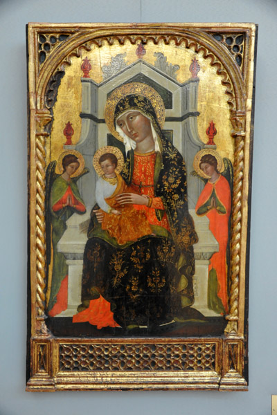Paulo Veneziano (?), Madonna and Child with Angels
