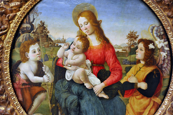Circle of Rafael, Virgin and Child with St. John the Baptist and an Angel