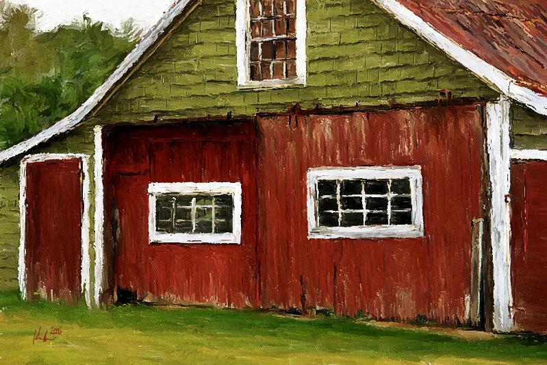 red green barn 11x7