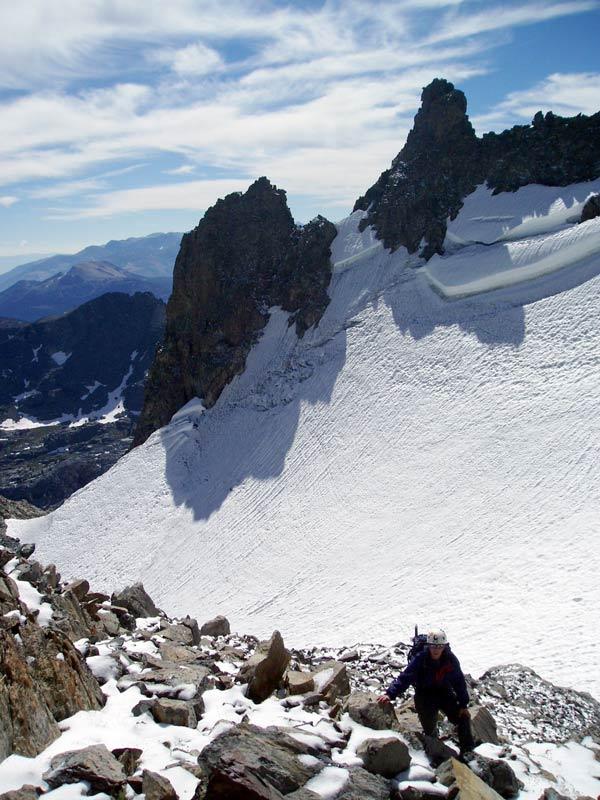 above mt ritter glacier