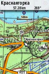 Карта Генштаба Garmin