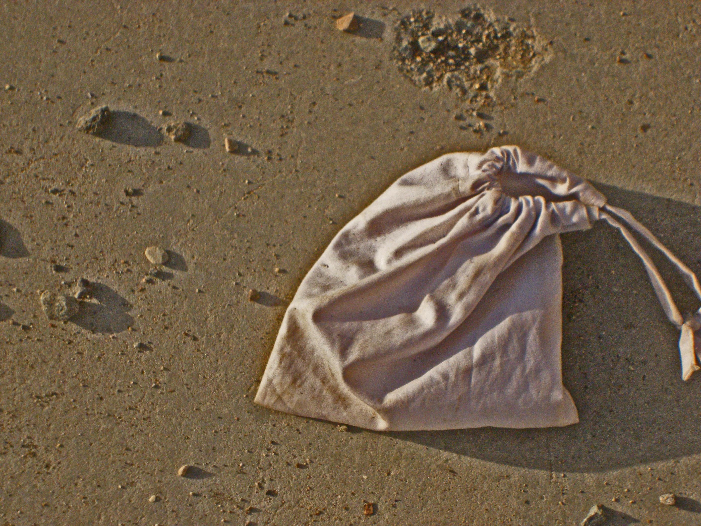 Stone bag at the stoning site,mina