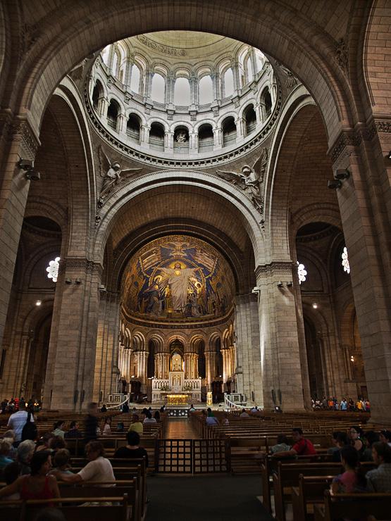 La Basilique du Sacré Coeur de Montmartre  - Inside