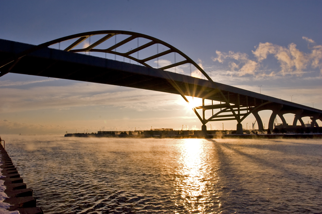 Hoan Bridge at Sunrise