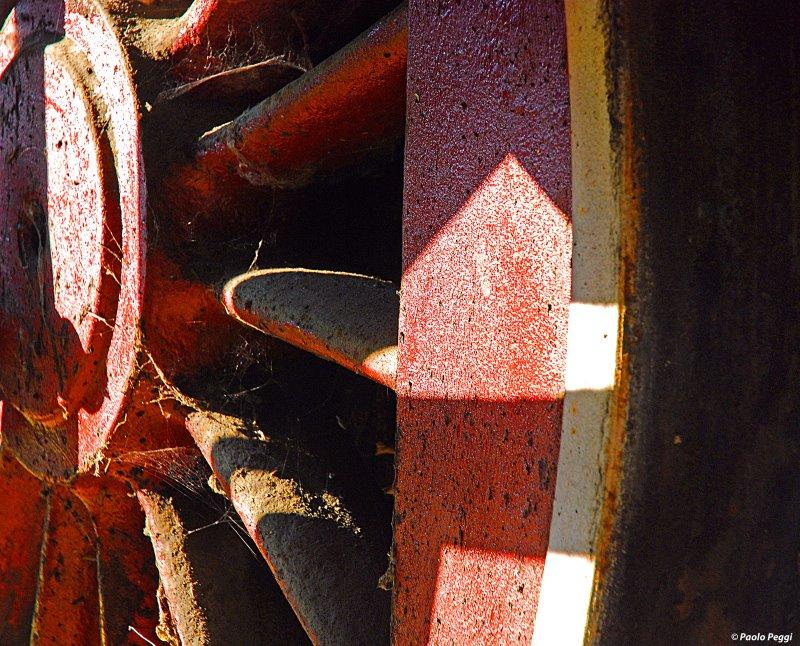 Red big wheel