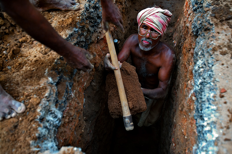 Digging a hole ...