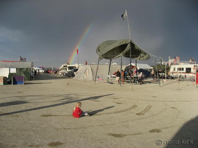 Rainbow over Kidsville--Thursday