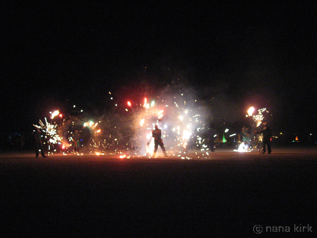 Fireworks on Tuesday