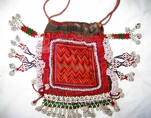 Embroidered purse & beadwork
