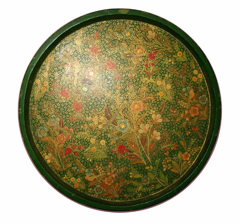 Hand painted paper-mache tray-Kashmir