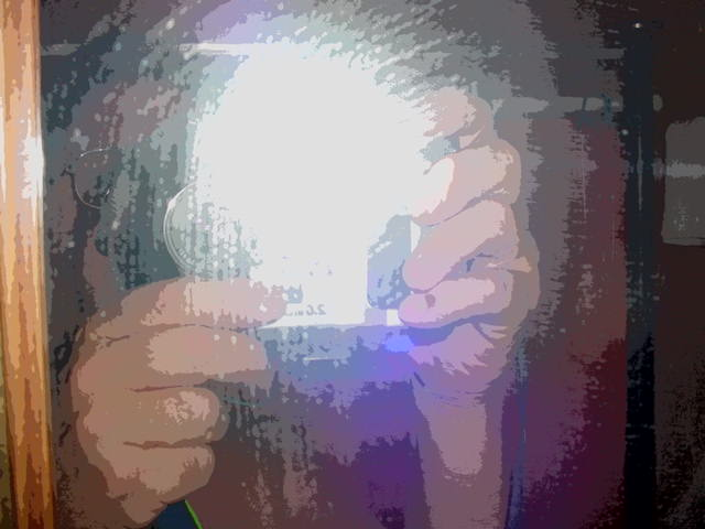 solarized reflection<br>portrait of self *