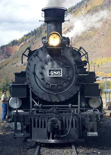 Steam Locomotive In Silverton