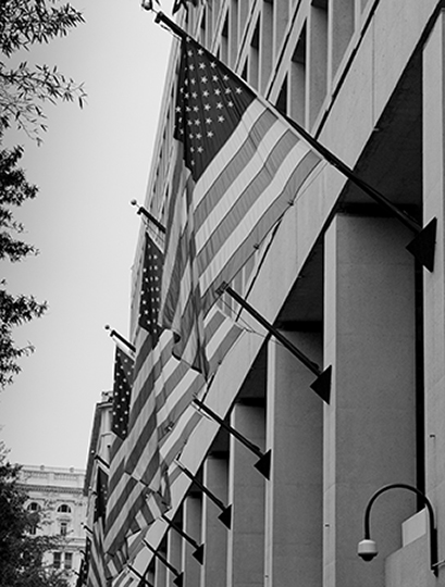 Flags On The Hoover Building