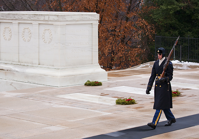Walking Guard At The Tomb Of The Unknown Soldier