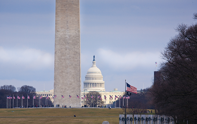 The Washington Monument and The Capital Building