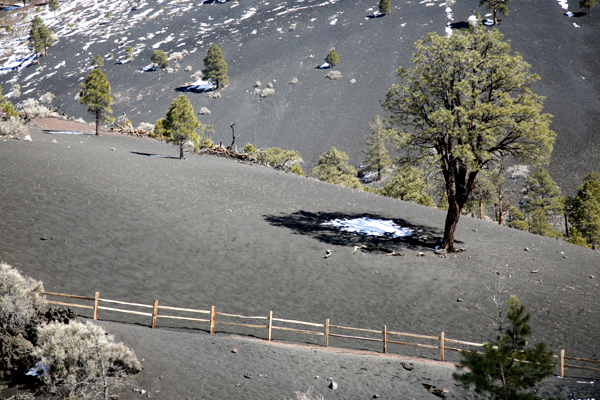Snow In The Shadow-Sunset Crater