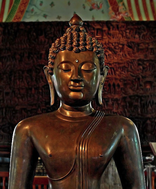 Image of Lord Buddha with third eye