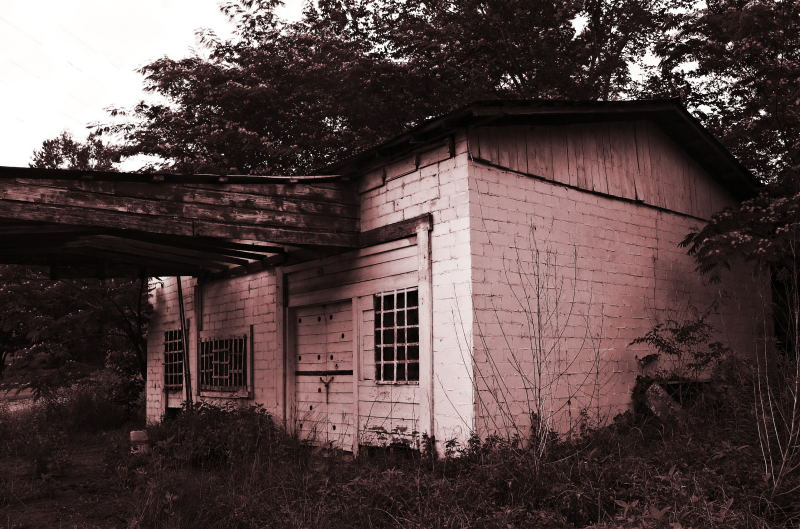Old Gas Station, Near Rush TX