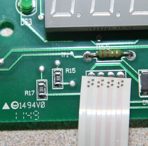 On My Old Board The R15 Is Burnt I Ll Have To Pull Other From Heater And Check It See If R45