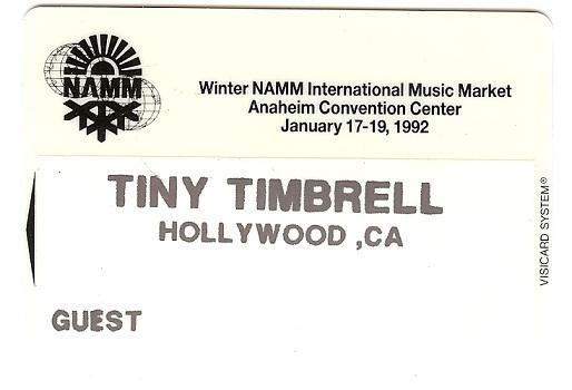 Tinys 1982 Namm badge